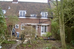 Before the extension: The garden had shape and was well stocked