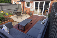 Over the decking